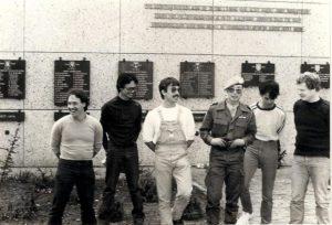 Afscheid Libanon in Assen met Victor van Zijl, Ernst IJssel de Schepper, Willem Wittenrood, Andrew David, Ernest David en Randolph van der Kuij