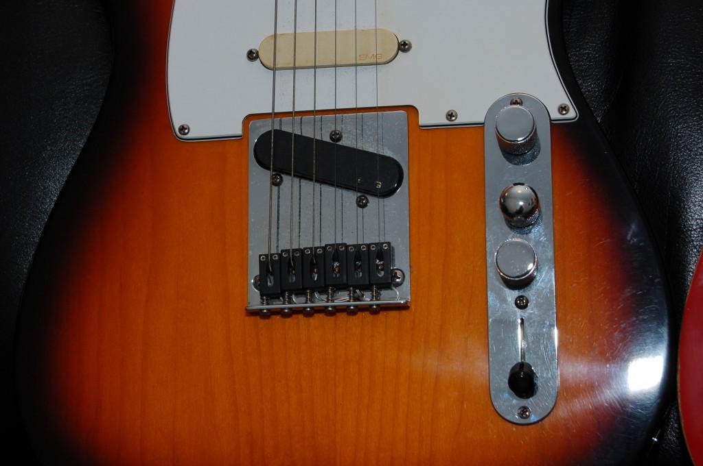 Telecaster 96' en EMG Pickups. In de brug Christian piezo elementen