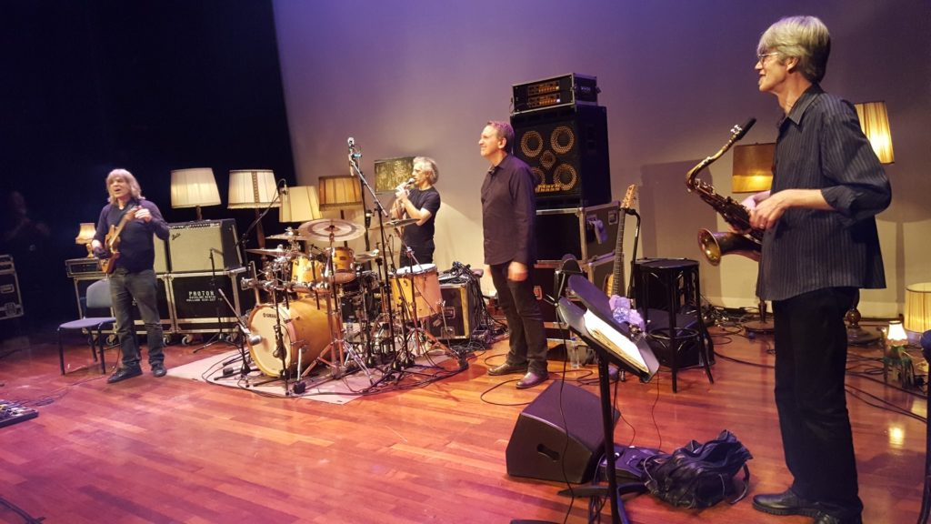 Sax player Bob Malach in Mike Stern band live in Wageningen NL