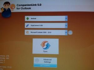 Screenshot Interface CompanionLink