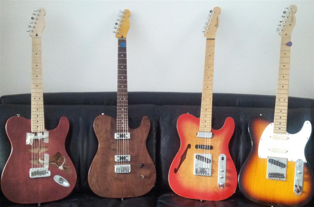 Telecasters: custommade tele/strat, cabronita, Charlee handmade and American Standard Tele