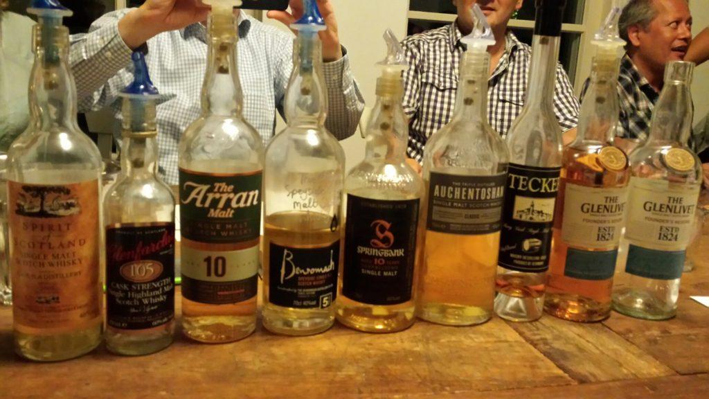 whisky flessen de score